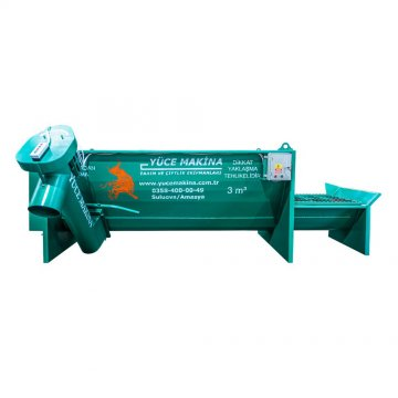 THREE AUGER ELECTRIC FIXED HORIZONTAL FEED MIXER 3M³