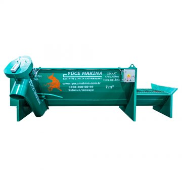 THREE AUGER ELECTRIC FIXED HORIZONTAL FEED MIXER 7 M³